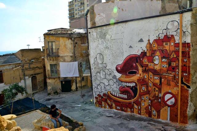 """The Scream Of Vallicaldi"" New Street Art Piece By Mr Thoms In Sicily. 6"