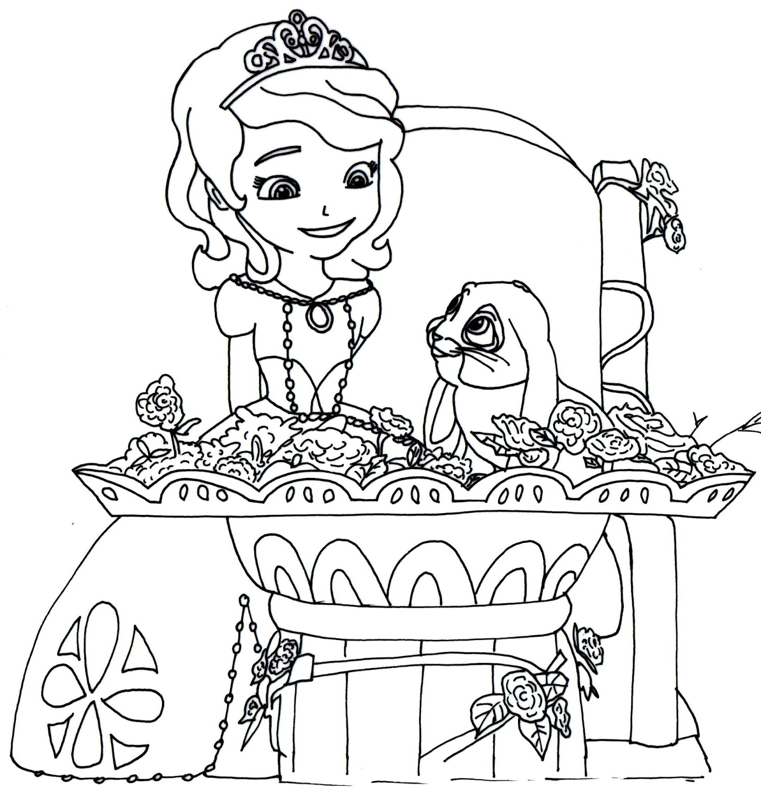 Disney princess sofia coloring pages