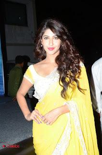 Sonarika Bhadoria Mesmerizing Yellow Saree at Eedo Rakam Aado Rakam Gummadikaya Function