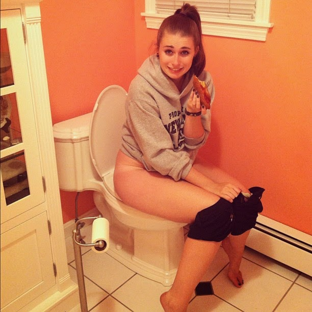 Naked Teen On A Toilet