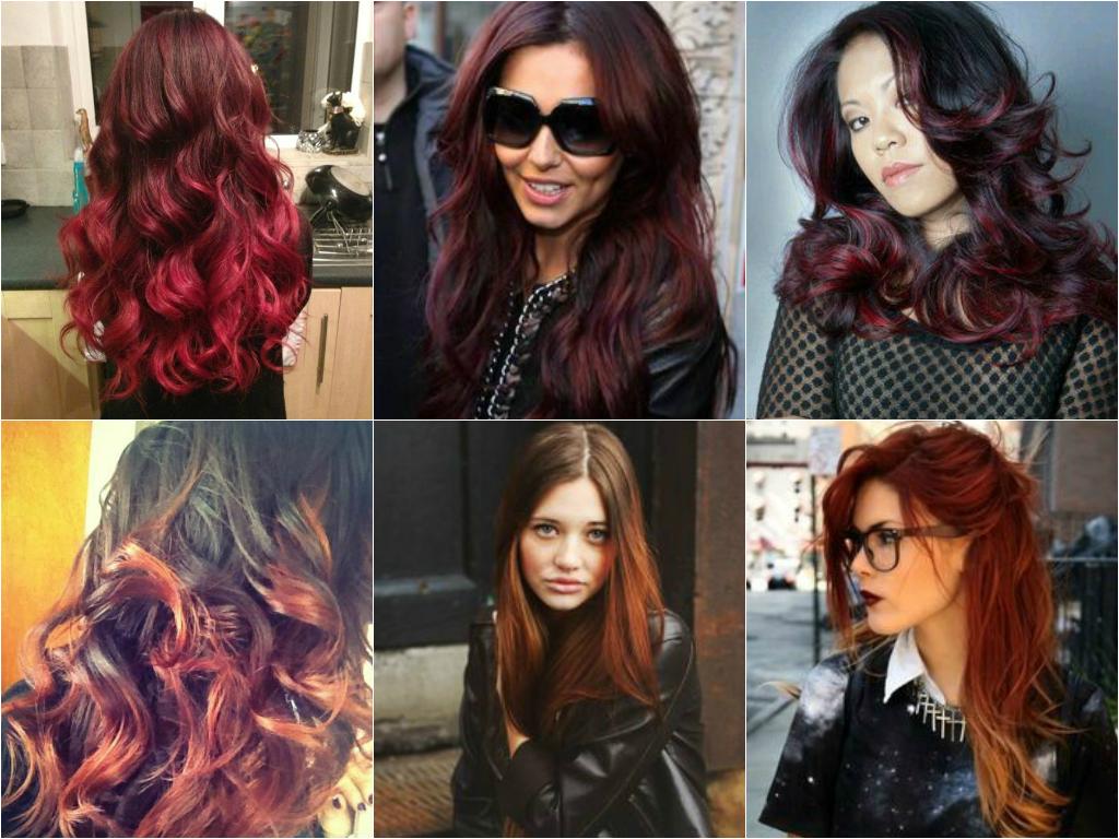 O ombré hair vermelho pode ser feito nos cabelos pretos, castanhos e até loiros. Você pode optar por escolher mais que um tom de vermelho/ruivo se quiser