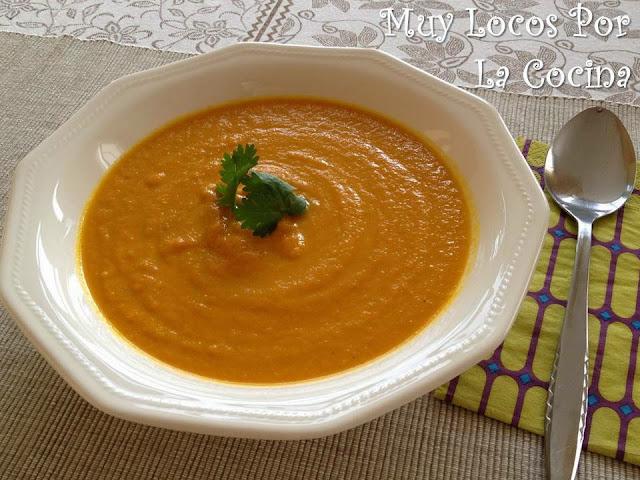 Crema de Zanahoria, Jengibre, Curry y Leche de Coco