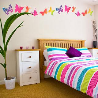 habitación tema mariposas
