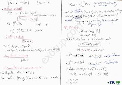 résumé (5) thermodynamique 1 s1 smpc