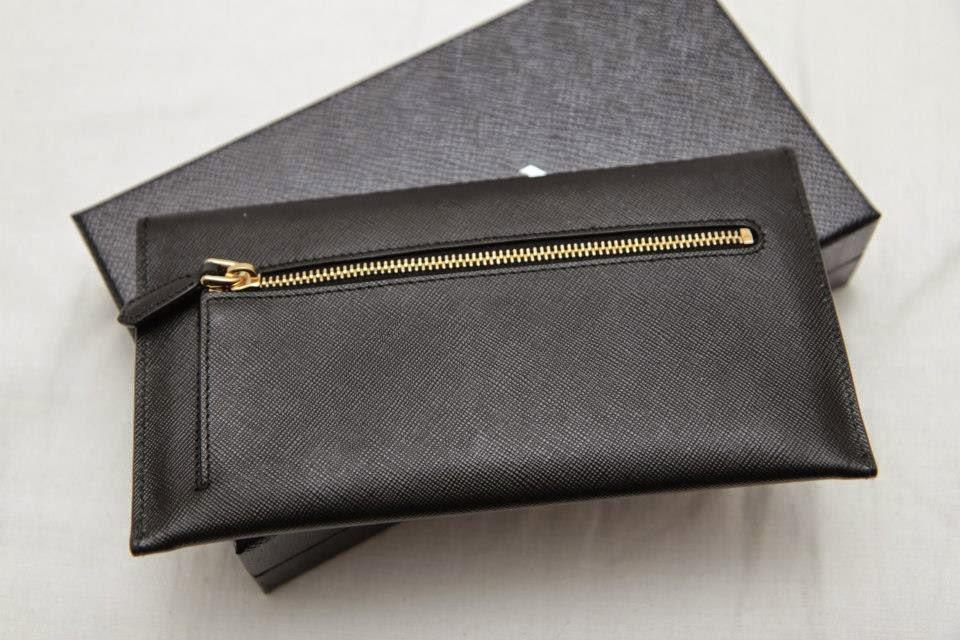98033ffe265c17 I Want Bags backup: Prada 1M1175 Saffiano Envelope Wallet-Nero