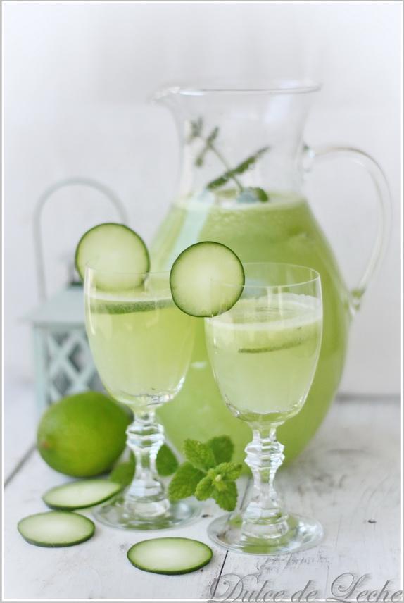Uhorkovo limetková limonáda