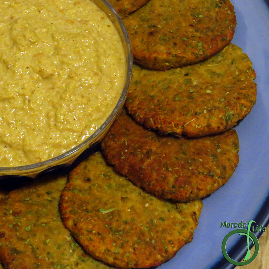 Morsels of Life - Falafel - Chickpeas, cooked and then processed with garlic, onions, and many delectable herbs, formed into patties, and then baked into flavorful falafel.