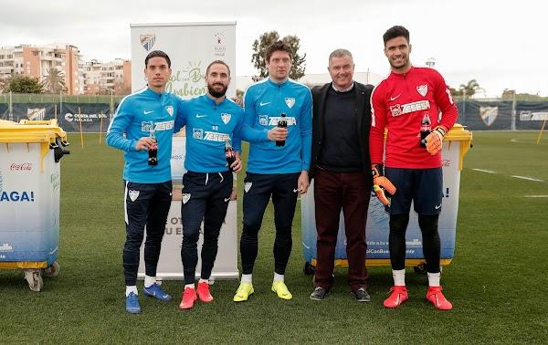 El Málaga CF y Coca-Cola presentan #FútbolconBuenAmbiente
