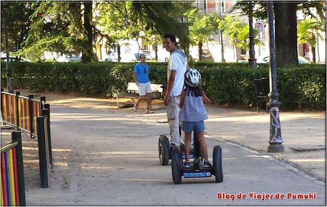 Para montar en segway los niños deben tener un peso mínimo
