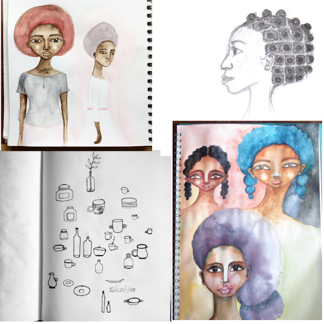 Stacey-Ann Cole, Sketchbook Conversations, Sketchbooks, My Giant Strawberry