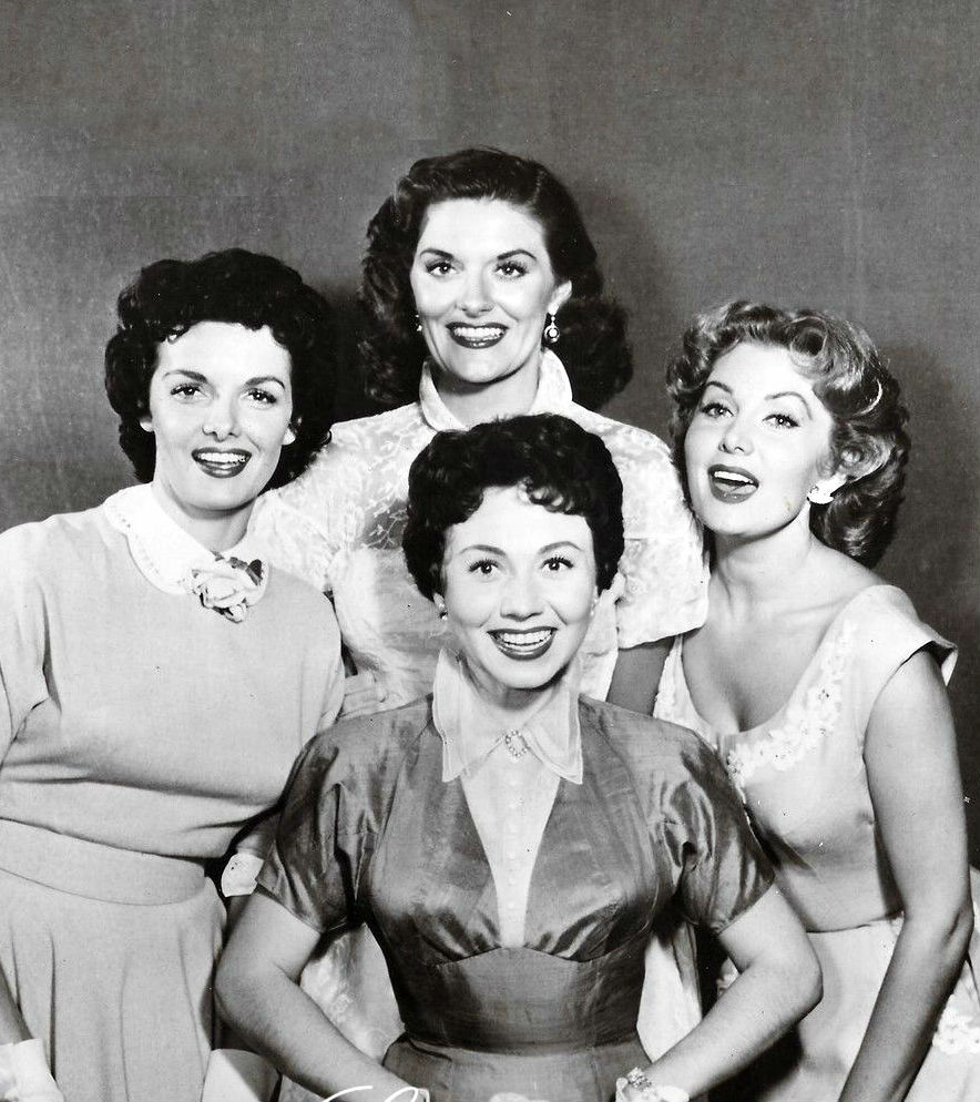 In The Early 1950s During A Charity Night Performance For Hollywood Episcopal Church Jane Russell Took Stage With Three Other Women