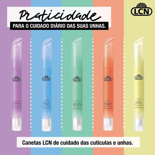 Esmaltes e caneta hidratante da LCN 5