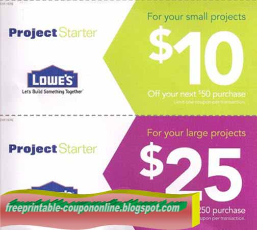 Printable Coupons 2018: Lowes Coupons