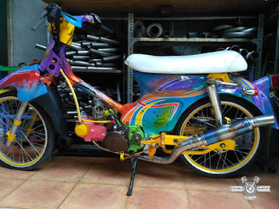 Honda C70 Racing Modifikasi
