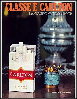 propaganda cigarros Carlton 1971, cigarros Sousa Cruz anos 70, cigarros década de 70, cigarros anos 70, Oswaldo Hernandez,