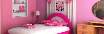 Dekorasi Kamar Tidur Anak Perempuan Sederhana