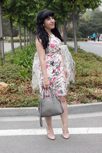 Le Tote Uttam Floral Dress SF Blogger Office Outfit