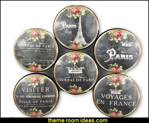 Paris Chalkboard Oversized Cabinet Knobs  French cafe Paris Bistro style decorating ideas - French Country theme decorating ideas - French cafe theme decorating ideas - French country kitchens - French cafe decor - coffee themed decor - french coffee shop decor - Paris themed bedrooms - Paris themed decor