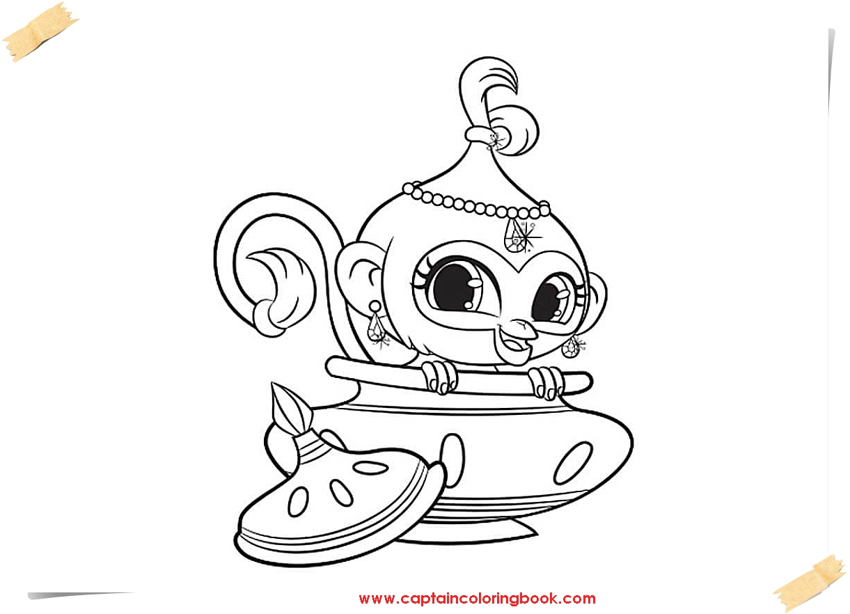 Shimmer And Shine Coloring Pages Idea - Whitesbelfast | 882x1221