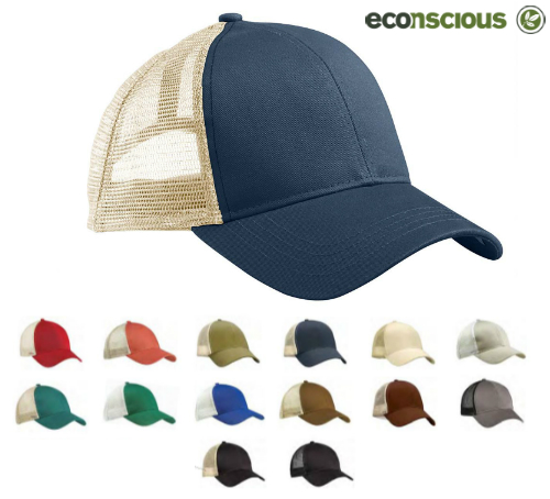 6d6acba5d94 econscious is known for their earth-friendly apparel and accessories. This  ecofriendly trucker cap is made from 100% organic cotton twill with  recycled ...