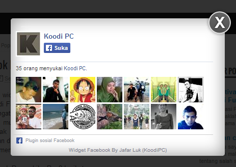 Cara membuat Widget Facebook Popup Like Box Blogger