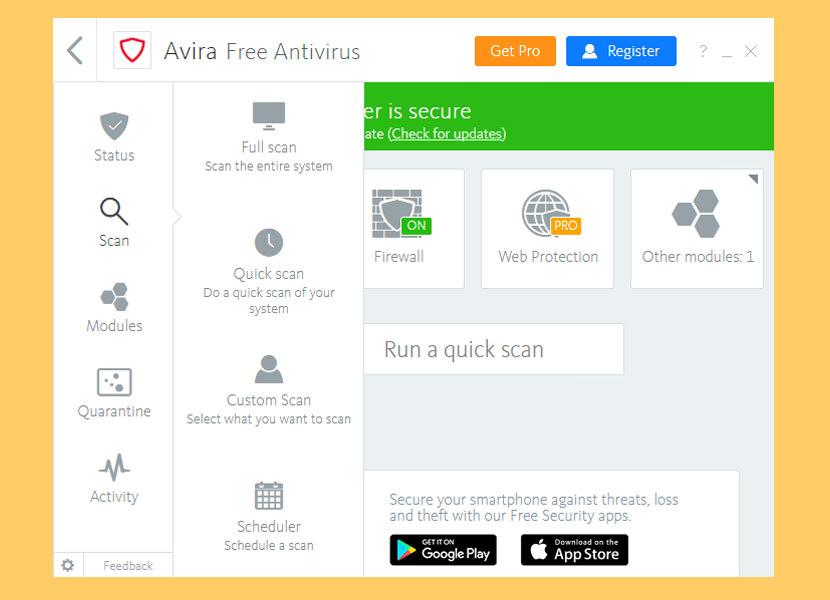 update my avira antivirus free