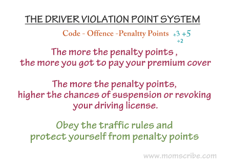 ten points on road safety safe driving tips momscribe driver violation point system