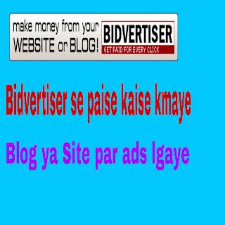 affilaiate website bidvertiser se paisa kaise kmaye