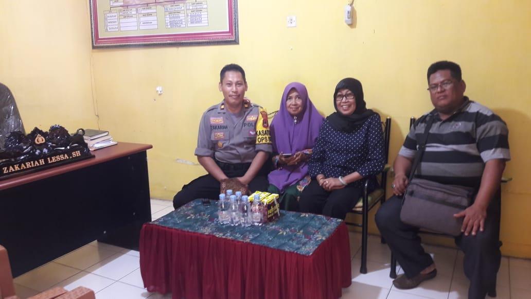 Wawali Kota Sorong Silahturahmi dengan Kapolsek Watang Pulu, Ini Pesan Ibu Wawali...