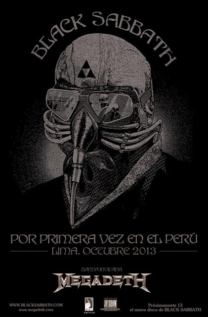 Flyer afiche de black Sabbath en Lima confirmado