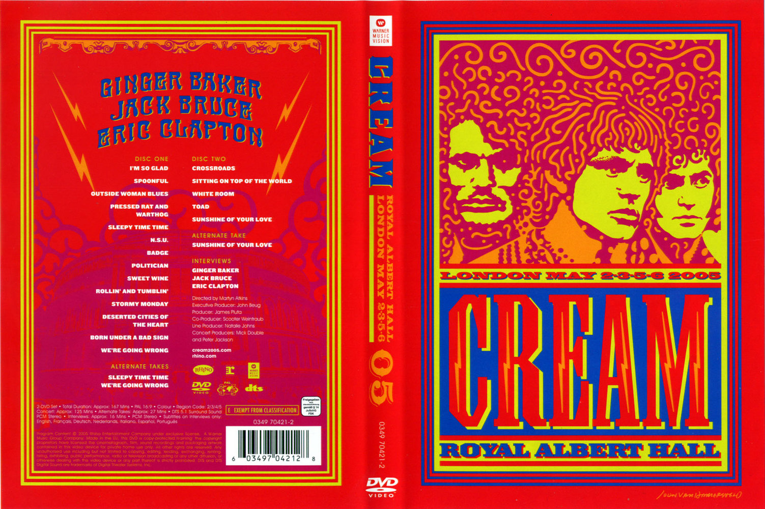 dvdmania cream royal albert hall london may 2 3 5 6 2005. Black Bedroom Furniture Sets. Home Design Ideas