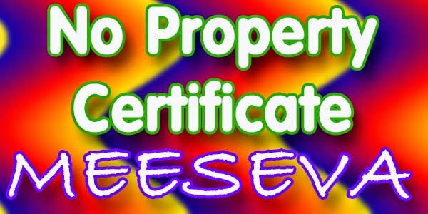 No Property Certificate Apply Meeseva