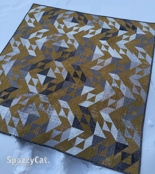 Fractured Composition Quilt Free Tutorial