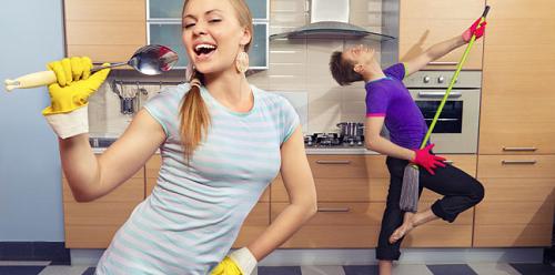membakar kalori dengan gerakan pekerjaan rumah