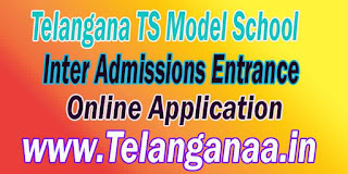 TSMS Telangana TS Model School Inter Admissions Entrance Online Apply