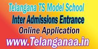 TSMS Telangana TS Model School Inter Admissions Entrance Online Apply