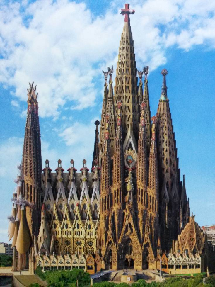 barcelona sagrada familia beautiful places of barcelona. Black Bedroom Furniture Sets. Home Design Ideas