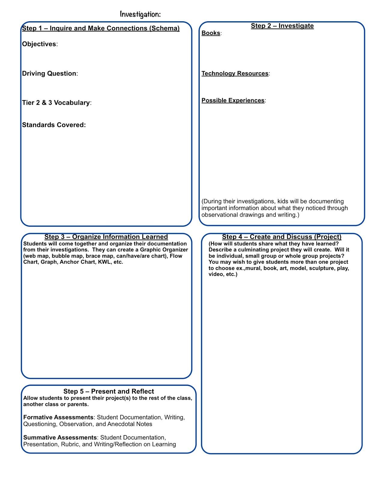 Inquiring Minds Mrs Myers Kindergarten Planning