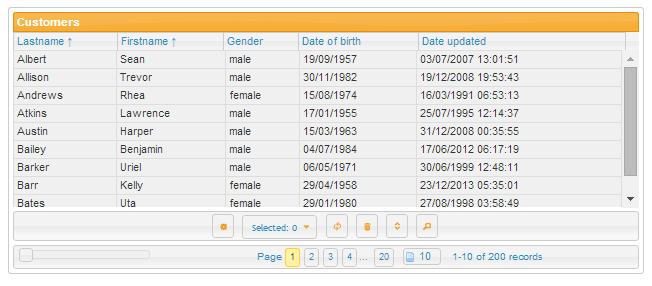 7+ jQuery Grid Plugin Examples or Datagrid Plugin Examples