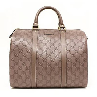 Gucci Joy Boston Satchel Bag Purple Leather