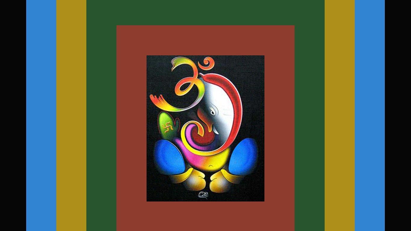 Abstract Ganesh God Wallpapers Widescreen Wallpaper