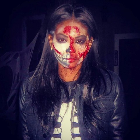 Women Face Painting Ideas For Halloween