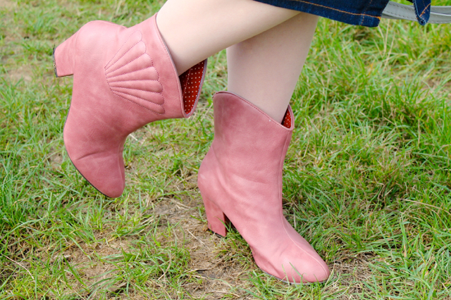 BAIT Hamish western ankle boots in pink