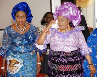 Bola Shagawa and Patience Jonathan