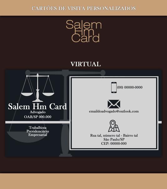Cartão de Visita - Modelo 1 - Advogado - Virtual