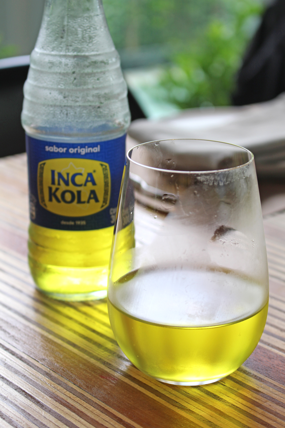 Inca Kola yellow drink in Lima, Peru - travel & lifestyle blog