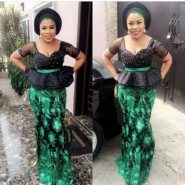 Peplum Aso Ebi Skirt and Blouse 2018 for Wedding Guests ...