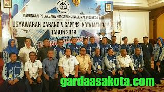 Menang Muscab, Agus Hidayat Dilantik Sebagai Ketua Gapensi Kota Mataram