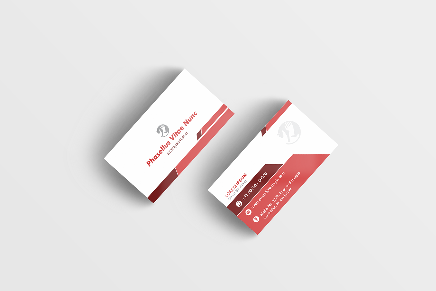 creative visiting card design sample