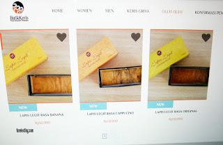 Produk lapis legit di Batik Keris online
